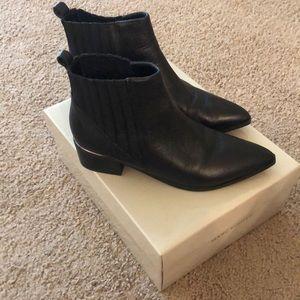 Marc Fisher black ankle boots